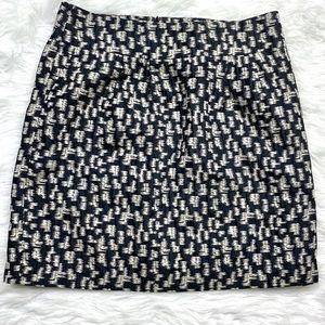 Ann Taylor Jacquard Pencil Straight Skirt